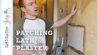 A look at how we patched damaged areas of lath and plaster on the walls and ceilings before plastering.--- CLICK SHOW MORE FOR LINKS AND RESOURCES ---CONTACT USrestorationcouple@gmail.comOUR SOCIAL NETWORKSFacebook - https://www.facebook.com/restorationcoupleYouTube - https://www.youtube.com/therestorationcoupleTwitter - https://twitter.com/RestoCoupleInstagram - https://instagram.com/restorationcouple/OUR BLOGhttp://www.restorationcouple.com/