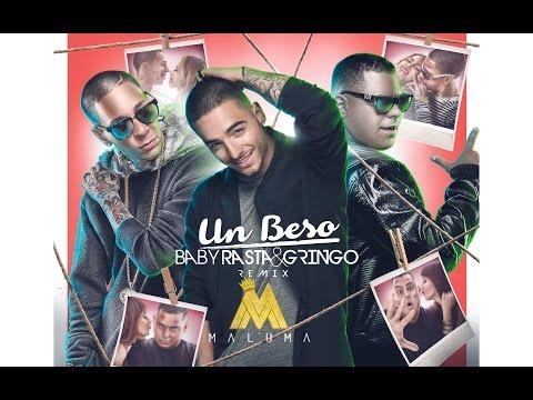 Letra Un beso (Remix) Maluma Ft Baby Rasta y Gringo