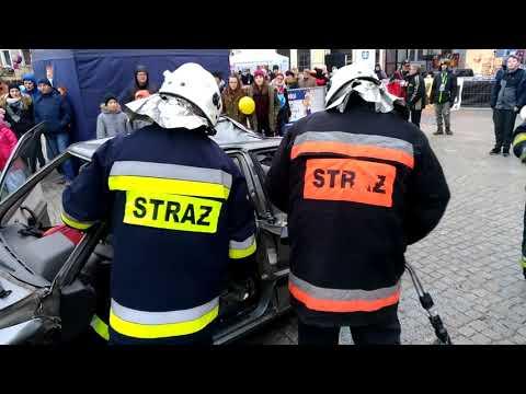 Wideo1: Pokaz ratownictwa w wykonaniu strażaków z OSP Wschowa i Siedlnica