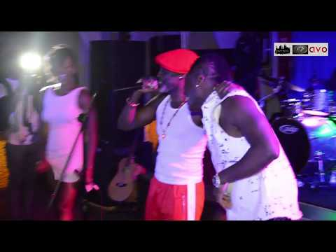 "Ebony performs with Asamoah ""Baby Jet"" Gyan"