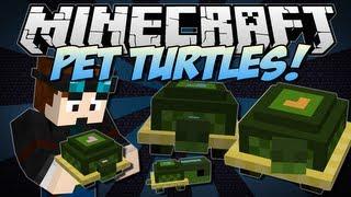 Minecraft   PET TURTLES! (Cute, Useful Little Companions!)   Mini Mod Showcase [1.6.2]