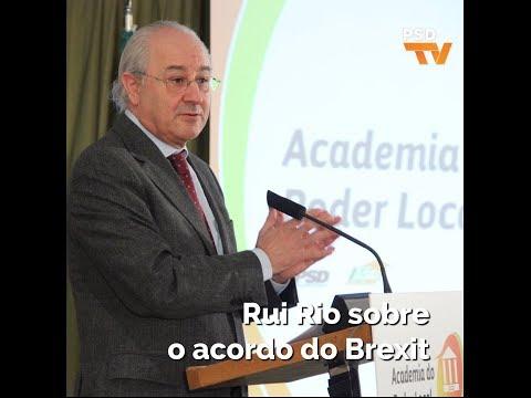 Rui Rio sobre o acordo do Brexit