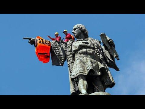 """Das Rettungsschiff """"Open Arms"""" erreicht Barcelona"""