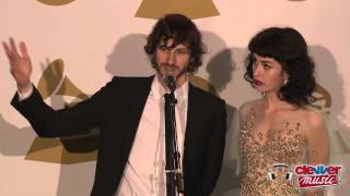 Gotye & Kimbra Interview- 2013 Grammy Awards Backstage