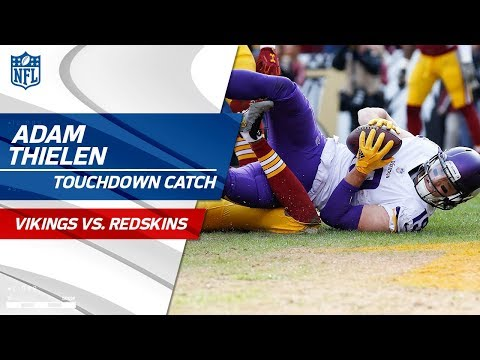 Video: Adam Thielen's 3 Huge Catches w/ TD & Leap Frog Celebration