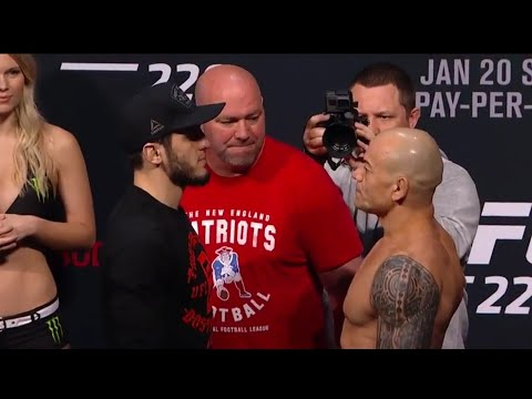 Islam makhachev vs gleison tibau ufc 220 official Weigh in (видео)