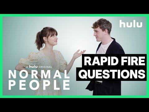 Rapid Fire Questions: Paul Mescal and Daisy Edgar-Jones • Normal People • Hulu