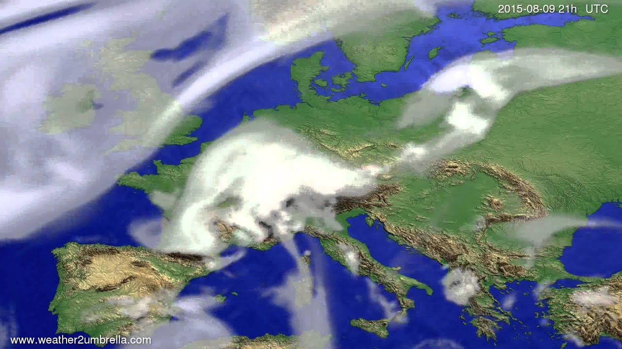 Cloud forecast Europe 2015-08-07