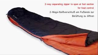 Легкий спальный мешок для летних походов High Peak Action 250