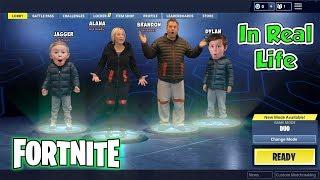 Fortnite Battle Royal in Real Life Nerf Kids SKIT | DavidsTV