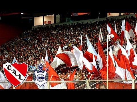 Independiente 1 - Gimnasia 1   Compilado de la hinchada - La Barra del Rojo - Independiente