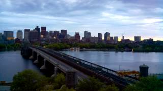 Sunset Time-Lapse Over Longfellow Bridge - May 24, 2014