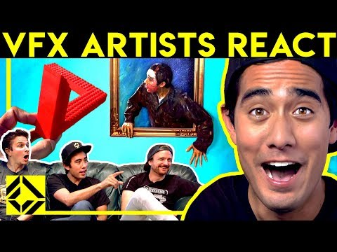 VFX Artists ft  Zach King React to CGi Magic