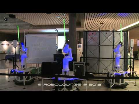 Watch This: Robots Dancing With Light Sabers