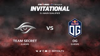 Team Secret против OG, Вторая карта, EU квалификация SL i-League Invitational S3