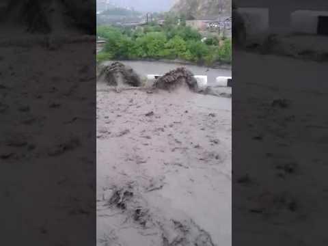 Проливные дожди нанесли ущерб дорогам в горах Дагестана