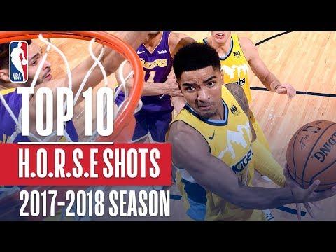 Top 10 H.O.R.S.E. Shots: 2018 NBA Season (видео)