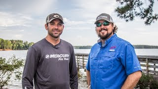 Breaking down practice for the Forrest Wood Cup at Lake Murray with Casey Scanlon and Greg Bohannan.