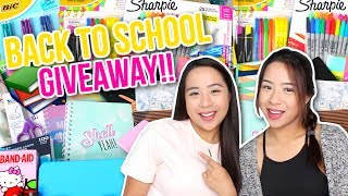 JOIN THE GIVEAWAY HERE: https://gleam.io/fDUSQ/back-to-school-giveaway-2017 Watch our back to school supplies shopping vlog: https://www.youtube.com/watch?v=f_itpke6HugWhat kind of back to school videos do you want to see? Hauls, diys, hacks?☆ PO Box / Fan Mail (If you want to send us something):Caleon Twins119-2927 Lakeshore Blvd. WestToronto, ON M8V 1J3♡♡ FOLLOW US ON SOCIAL MEDIA ♡♡☆ Instagram: http://www.instagram.com/caleontwins☆ Twitter: https://www.twitter.com/TheCaleonTwins☆ Facebook: https://www.facebook.com/caleontwins/☆ Snapchat: caleontwins - https://www.snapchat.com/add/caleontwins☆ Musical.ly: @caleontwins  @madeleinexc @samcaleon☆ YouNow: www.younow.com/CaleonTwins☆ Shimmur: Caleon TwinsOur Faves:☆ PopSockets (Get $2 off): http://popsockets.refr.cc/VHBZ3HH☆ Because Of A Case - Phone Cases (Get 15% off) : http://www.becauseofacase.com?rfsn=289178.f2f8d*these are affiliate linksFAQ:What is your ethnicity? We are filipino! Born in the Philippines but raised in Canada!How old are you? We are 20!What do you use to edit: iMovie or Final Cut ProWhat Camera do we use? Canon T5i and Canon G7x (For vlogging)FOR BUSINESS INQUIRIES: caleontwins@gmail.comFTC: This video is not sponsored.