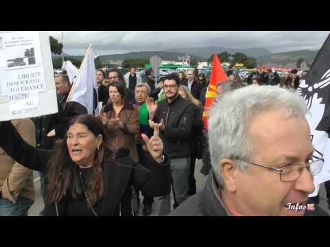 Le groupe frontiste Europe des Nations et des Libertés chahuté à son arrivée à Ajaccio