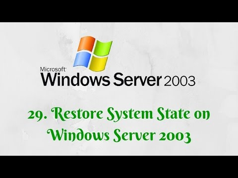 29. Restore System State on Windows Server 2003