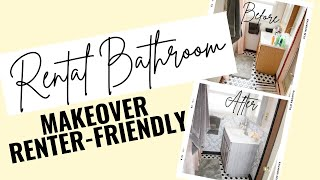 Renter-Friendly Apartment Bathroom Makeover Tutorial