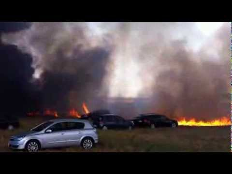 64 cars destroyed in BBQ fire in Brittany, France