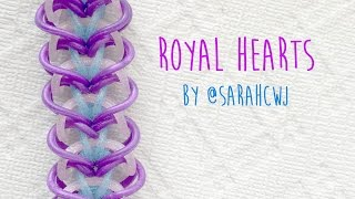 Rainbow Loom Bands Royal Hearts Bracelet by @SarahCJW