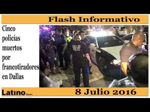 Cinco oficiales de policía murieron y siete resultaron heridos.