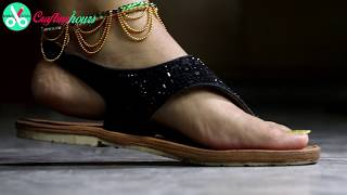 How to make silk thread anklets or Payal (Bridal step chain) at home at a very low cost. Latest Videos: https://goo.gl/b5Q7Oq DIY Jewellery Making: https://g...