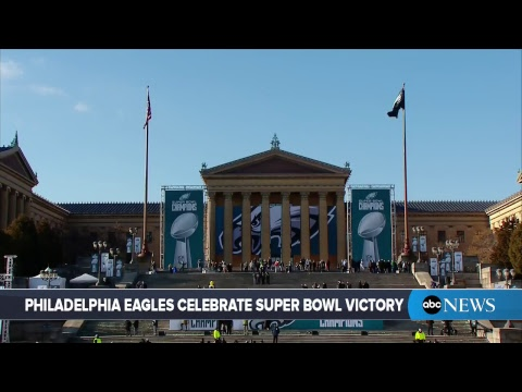 Philadelphia Eagles Super Bowl Parade 2018: MVP Nick Foles, team celebrate championship  | ABC News (видео)