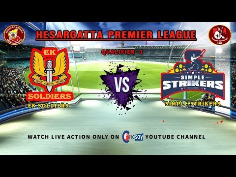 || Hesaraghatta Premier League || DAY-3 ||  QF-1 || EK Soldiers Vs Simple Strikers  ||