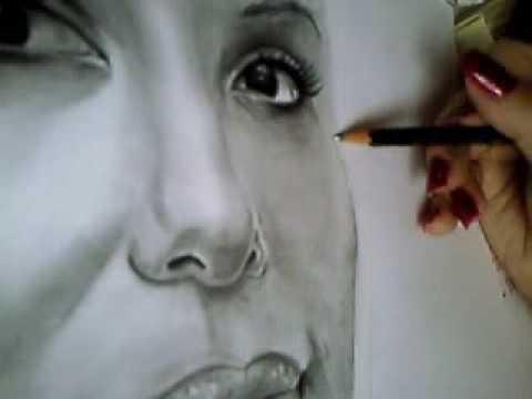 Eva Longoria Portrait zeichnen, Schattierungen – Part 4