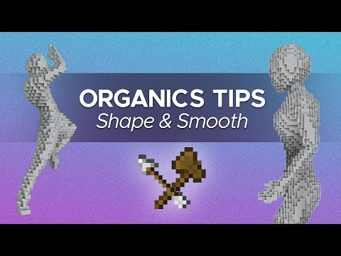 Beginner Tips for Minecraft Organics | Shaping & Smoothing