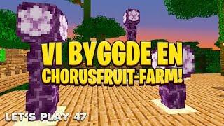 Vi byggde en CHORUSFRUIT-FARM i Minecraft!
