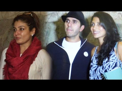 Raveena Tandon, Ritesh Sidhwani And Others At Bang