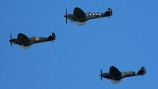Burgess Hill United Kingdom  city photos : Spitfires Fly Over Burgess Hill - Battle Of Britain 75th Anniversary Flypast
