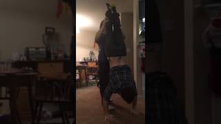 Assisted handstand fail