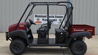 1. $9,999: 2014 Kawasaki  Mule 4010 Trans 4X4 In Dark Royal Red Overview and Review