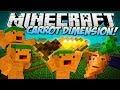 Minecraft   CARROT DIMENSION! (Carrot Bazooka, Carrot Diamond Drill & More!)   Mod Showcase