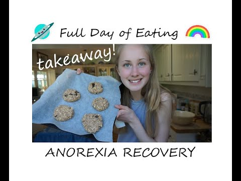 what I eat in a day- ANOREXIA RECOVERY - TAKEAWAY!!!