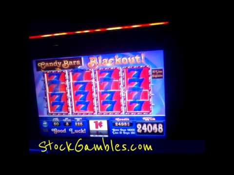 Slot Machine Win Candy Bars Casino Gambling $450 Big Winner Progressive Jackpot Slots