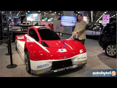 Mitsubishi i-MiEV Evolution Pikes Peak Race Car At The 2013 New York Auto Show
