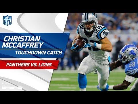 Video: Christian McCaffrey Snags Cam's Shovel Pass & Scores 1st Career TD! | Panthers vs. Lions | NFL Wk 5
