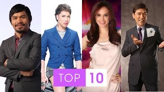 Stars and Sports Presents Top 10 Most Richest Philippines Celebrities 2015 in the world (https://www.youtube.com/watch?v=8M7U2Xnqlyk). ( pinoylist ) ...