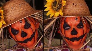 Maquillage Enfant : La citrouille d'Halloween - Déguisement épouvantail