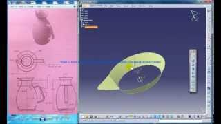Catia V5 Tutorials Wireframe and Surface Design Rebuild A Mug Part 1