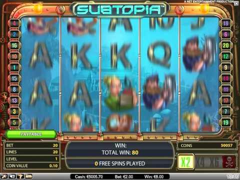 Subtopia NetEnt video slot at Bet24 Casino
