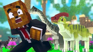 Our Baby Dino Family (so CUTE) - Minecraft Jurassicraft Dinos Modpack Episode #3 | JeromeASF