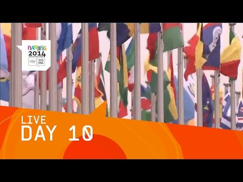 *LIVE* - Live coverage of the tenth day of competition in the 2014 Youth Olympic Games from Nanjing, People's Republic of China. Today, medals will be won in Diving, Archery, Athletics, 3-3 Basketball,...